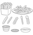 set of frenchfries vector image vector image