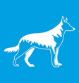 shepherd dog icon white vector image vector image