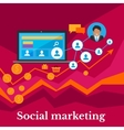 Social Marketing flat Design Banner vector image vector image