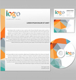 Stationary template set corporate simple vector image