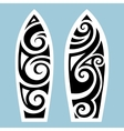 Surf board Tattoo style vector image vector image