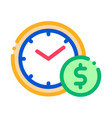 time is money icon outline vector image vector image