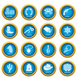 wild west icons set simple style vector image vector image
