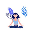 woman in lotus posture yoga meditation vector image vector image