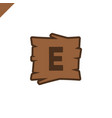 wooden alphabet or font blocks with letter e in vector image vector image