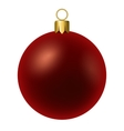 Red christmas ball isolated on white vector image