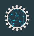 social networking metaphor vector image