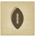 sport football logo old background vector image