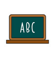 blackboard cartoon icon isolated on a white vector image