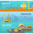 Construction Banner Set vector image