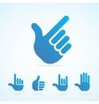 flat hand icon set vector image