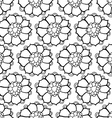 pattern with abstract flowers vector image