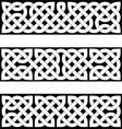 3 Celtic braid patterns vector image