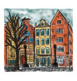 european house style painting vector image
