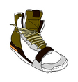 A shoe is placed vector image vector image