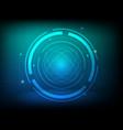 abstract blue green circle digital technology vector image vector image