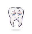 adult human tooth with eyes after eating vector image vector image