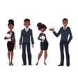 African American businessmen and businesswomen vector image