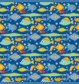aquarium ocean fish underwater bowl tropical vector image vector image