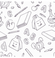 Back to school doodle objects Hand drawn school vector image vector image