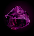 beautiful violet obsidian vector image vector image
