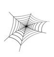 black spider web on white background vector image vector image