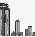 building and skyscrapers silhouette vector image