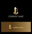 building gold logo vector image vector image