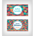 Business card design with ethnic pattern vector image vector image