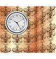 clock on wall vector image vector image