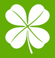 clover leaf icon green vector image vector image