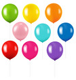 colorful balloon isolated vector image vector image