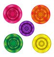 colorful circle ball with shadow vector image vector image