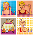 cosmetic design elements vector image vector image