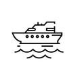 cruiser ship line icon concept sign outline vector image