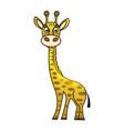 cute cartoon trendy design little giraffe with vector image vector image