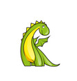 cute little dragon vector image vector image