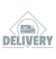delivery truck logo simple gray style vector image