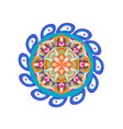 ethnic mandala with paisley elements yoga matt vector image