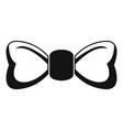 fashion bow tie icon simple style vector image vector image