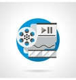 Film reel color detailed icon vector image vector image