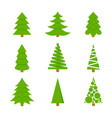 firs of different shapes set of icons of vector image vector image