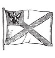 flag of poland 1881 vintage vector image vector image
