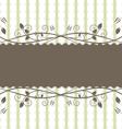 floral frame vintage style vector image vector image