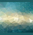 geometric vintage polygonal background molecule vector image vector image