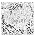 guide to snowboarding Word Cloud Concept vector image vector image