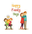 happy family hugs concept isolated vector image