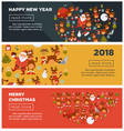 happy new year 2018 or christmas banners vector image
