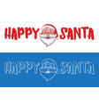 happy santa logo design for christmas greeting vector image