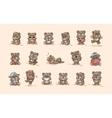 isolated Emoji character cartoon Bear stickers vector image vector image